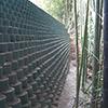 切土法面:緑化対応型もたれ擁壁工